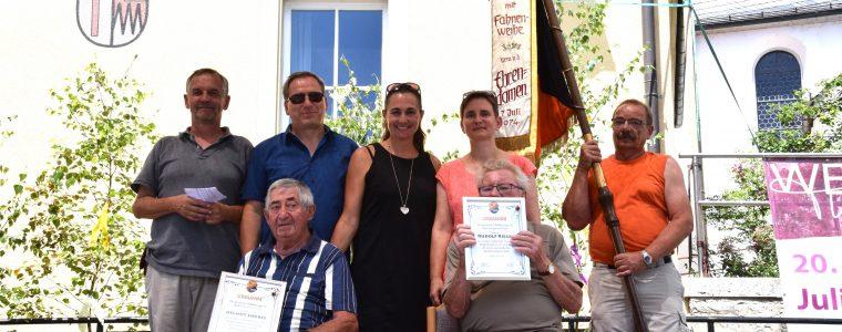 Der Sportverein Theilheim ehrt seine Gründungsmitglieder beim Theilheimatfest 2019