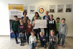 Die Hälfte der Spenden, also 1.740 €, geht an die Mukoviszidose-Selbsthilfegruppe Unterfranken.