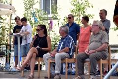 Helmut Endres, Rudolf Riegel mit der Vorstandsvorsitzenden Petra Ganz